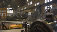 Stock Video Footage of pan steam engine room WOUDA STEAM PUMPING STATION, LEMMER