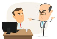 Stupid boss ! Stock Illustration