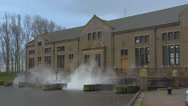Stock Video Footage of Wouda Steam Pumping Station near Lemmer - exterior + steam cloud