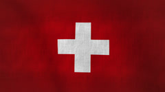 Switzerland Flag Background Stock Footage