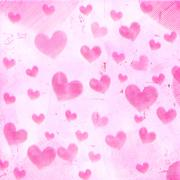 Pink striped hearts on old paper Stock Illustration