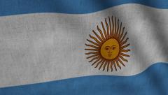 Argentina Flag transition LtoR with Alpha/Matte Stock Footage