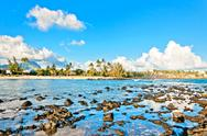 Stock Photo of Poipu Beach on the southern coast of Kauai island, Hawaii