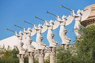 Stock Photo of statues of cherubs in caesar's palace   in las vegas