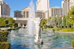 fountain in caesar's palace   in las vegas - stock photo