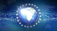 Loop global communications Stock Footage