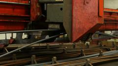 Machine Lifting Steel Bars with Magnet - stock footage