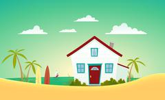 House of the beach Stock Illustration