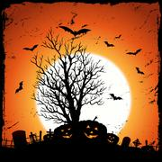 Jack o'lantern background Stock Illustration