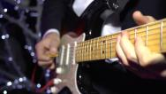 Stock Video Footage of Fingers and solo guitar in action