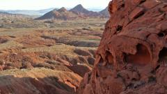 Primal Desert Wilderness Savage Landscape Stock Footage