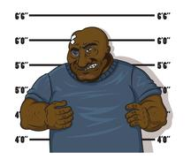 afro-american prisoner - stock illustration
