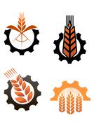 agriculture icons and smbols - stock illustration