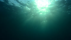 Underwater sunburst Stock Footage