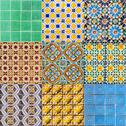 Stock Illustration of set of portuguese tiles