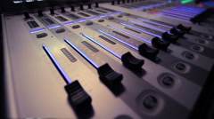 Studio mixer - stock footage