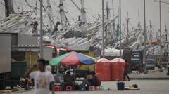 Sunda Kelapa - Jakarta port Stock Footage