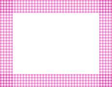 pink gingham frame - stock illustration