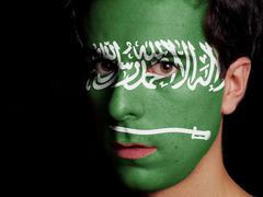 Flag of saudi arabia Stock Photos