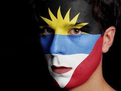 Flag of antigua and barbuda Stock Photos