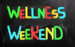 Wellness weekend concept Stock Illustration