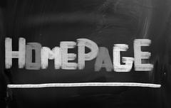 Homepage concept Stock Illustration