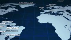 Moving map. Bussines concept Stock Footage