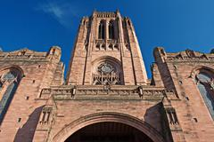 liverpool anglican cathedral - stock photo