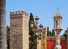 alcazar of seville, spain - stock photo