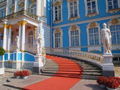 catherine palace in saint petersburg - stock photo
