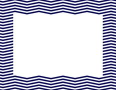 Navy blue chevron frame Stock Illustration