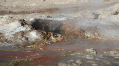 Geysir El Tatio in Chile Stock Footage