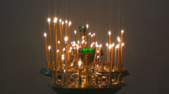 Sanctuary candles in church Stock Footage