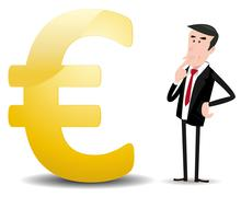 which future for euro currency ? - stock illustration