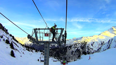Skilift repair Stock Footage