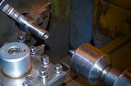 Stock Photo of lathe, cutting tool