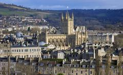 High view of bath abbey Stock Photos