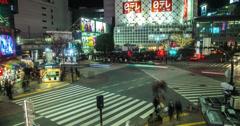 4K time lapse of Shibuya, Tokyo Stock Footage