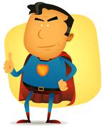 comic superman character - stock illustration