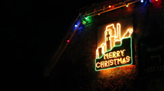 Merry christmas sign 01 Stock Footage