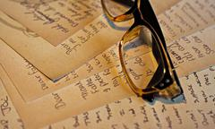 Stock Photo of old handwritten letters