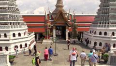 Grand Palace views, Bangkok. HD 1080p. Stock Footage