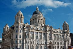 Stock Photo of liverpool's world heritage status waterfront buildings