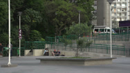 Stock Video Footage of 086 Sao Paulo, skateboarding in park, slowmotion