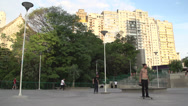 Stock Video Footage of 088 Sao Paulo, skateboarding in park