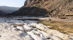 River in canyon. Socotra island, Yemen Stock Footage