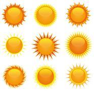 Kiiltävä auringot asettaa Piirros