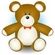 cute teddy bear - stock illustration