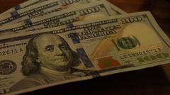 Stack of Money, Pile of New Hundred Dollar Bills Stock Photos
