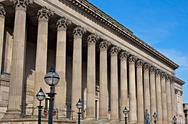 Stock Photo of exterior of st georges hall, liverpool, uk.